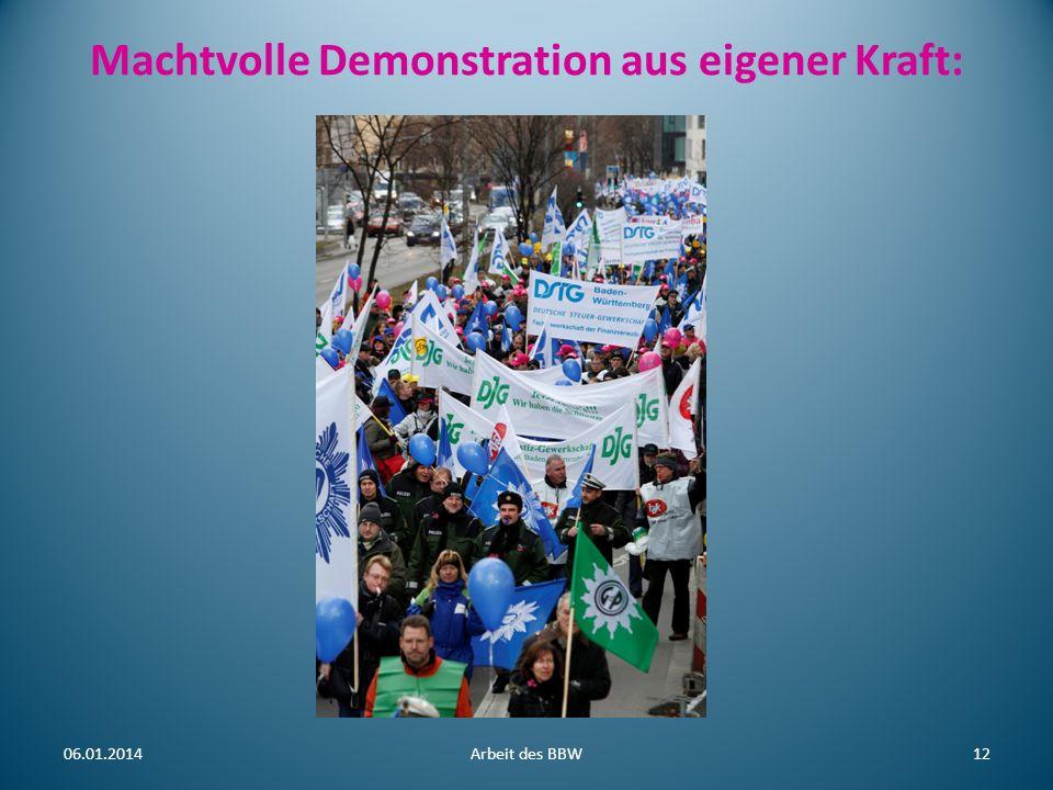 Machtvolle Demonstration aus eigener Kraft: