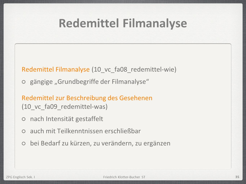 Redemittel Filmanalyse