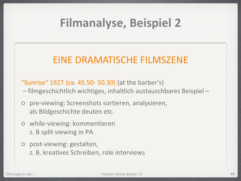 EINE DRAMATISCHE FILMSZENE