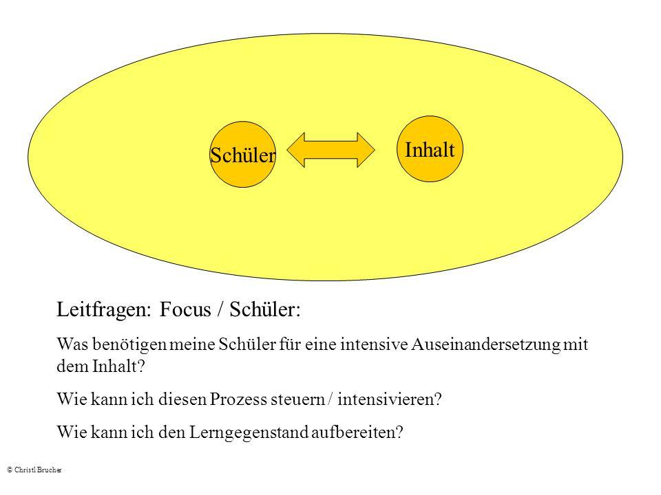 Leitfragen: Focus / Schüler: