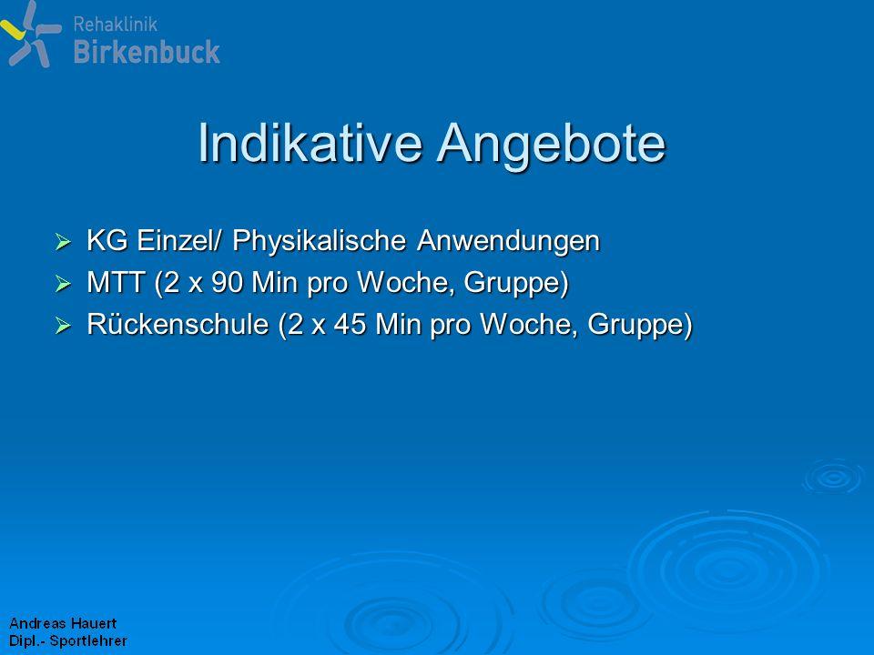 Indikative Angebote KG Einzel/ Physikalische Anwendungen
