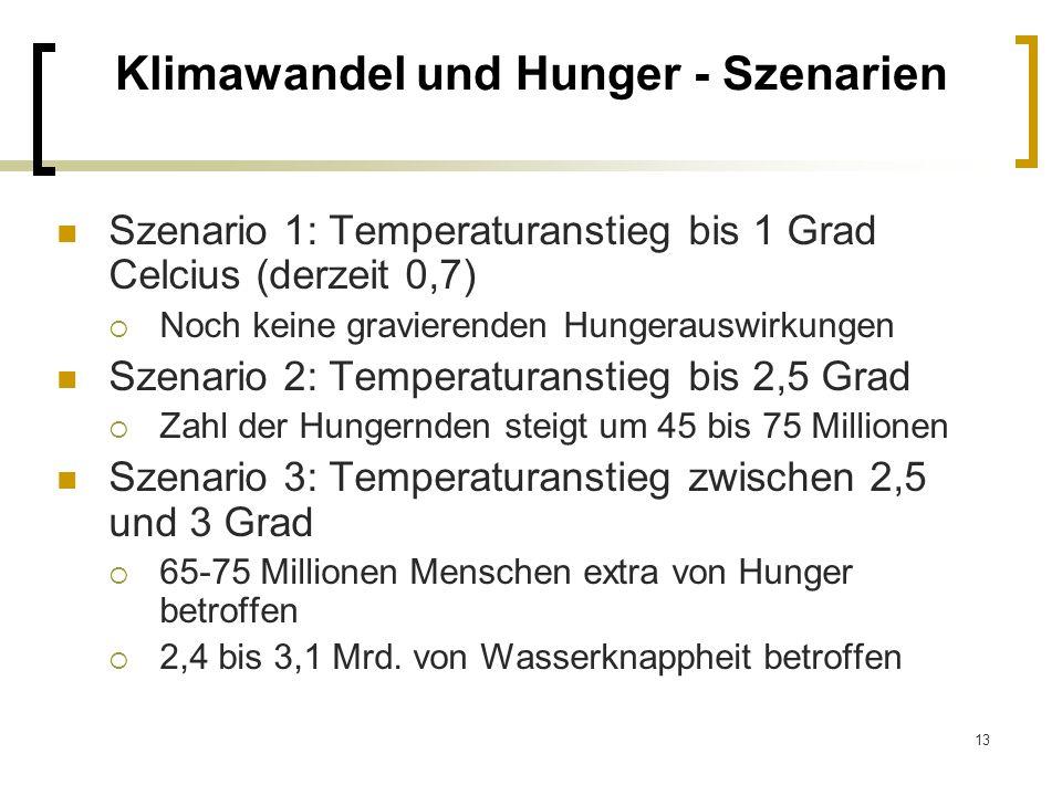 Klimawandel und Hunger - Szenarien