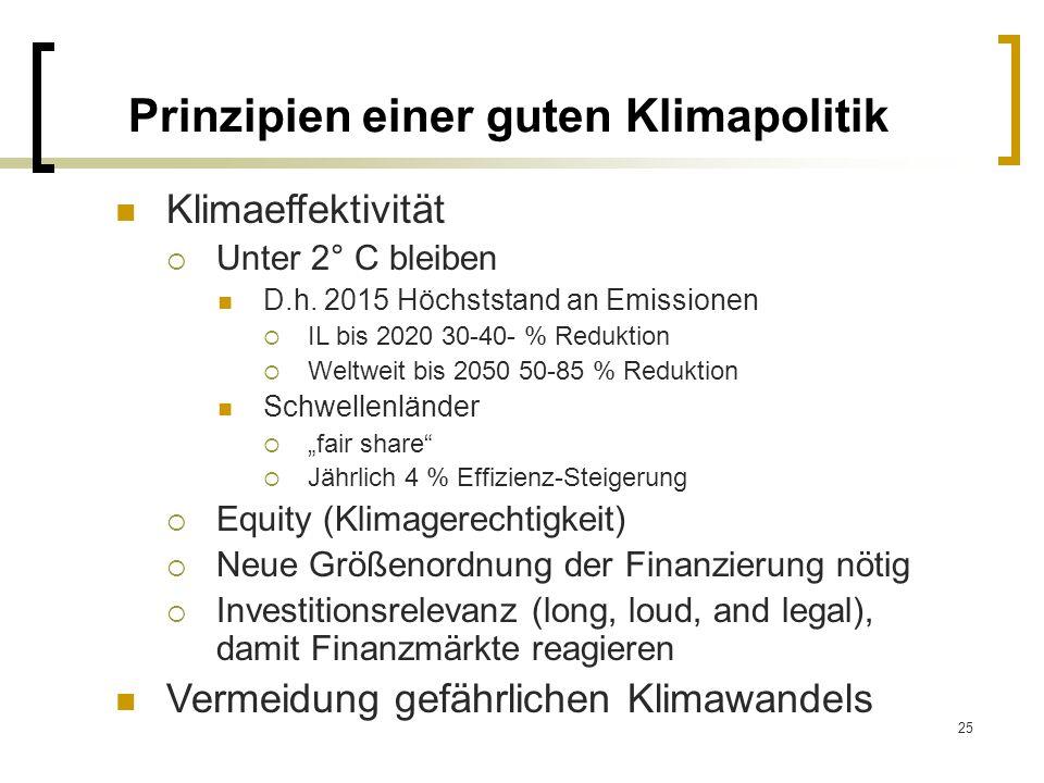 Prinzipien einer guten Klimapolitik