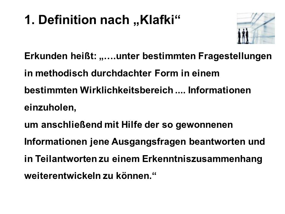 "1. Definition nach ""Klafki"