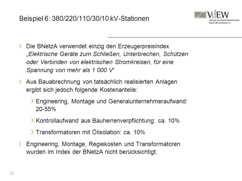 Beispiel 6: 380/220/110/30/10 kV-Stationen