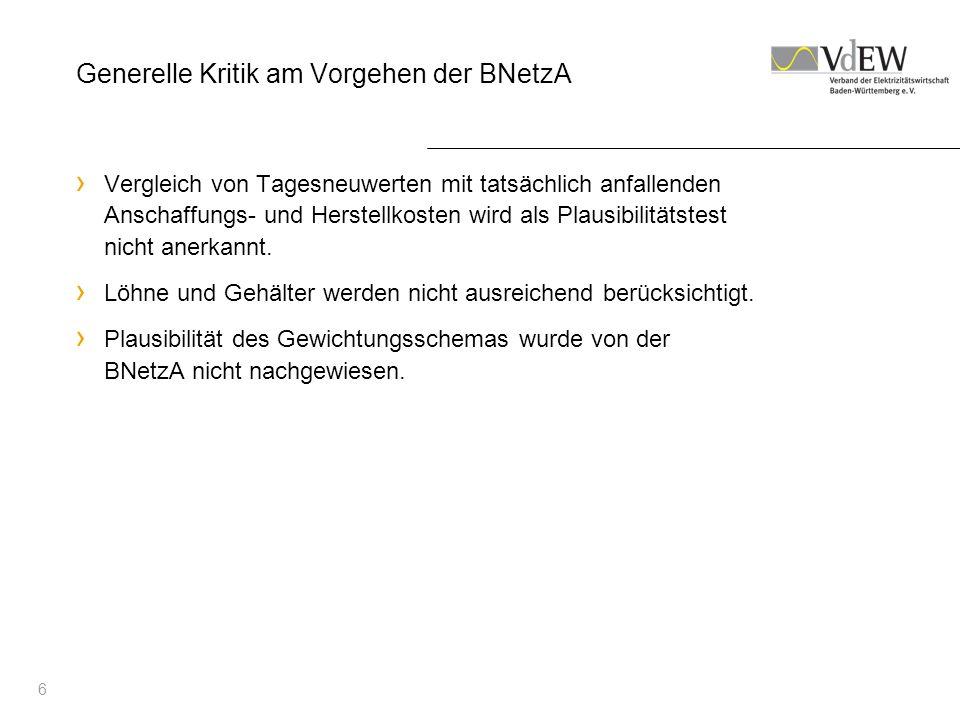 Generelle Kritik am Vorgehen der BNetzA
