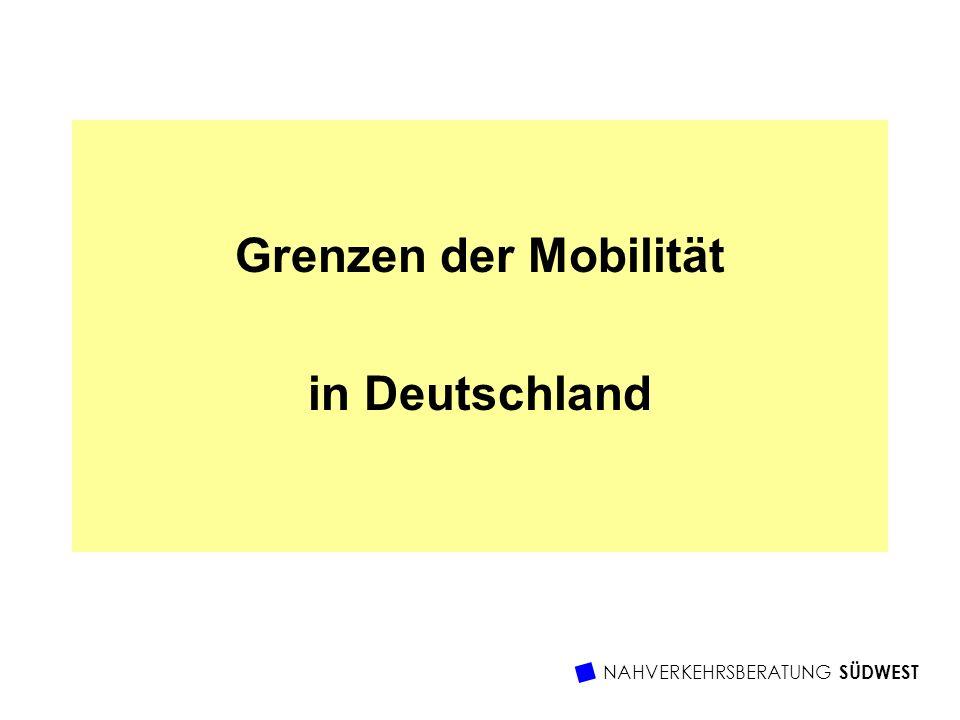 Grenzen der Mobilität in Deutschland