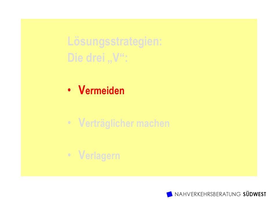 """Lösungsstrategien: Die drei """"V : Vermeiden Verträglicher machen"""