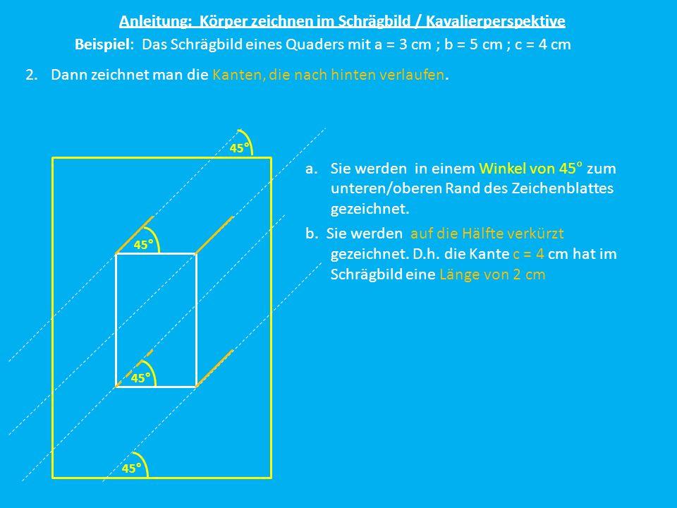 Anleitung: Körper zeichnen im Schrägbild / Kavalierperspektive