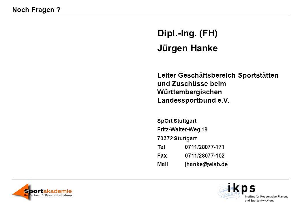 Dipl.-Ing. (FH) Jürgen Hanke Noch Fragen