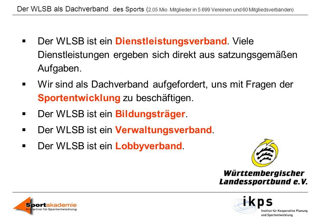 Der WLSB ist ein Bildungsträger. Der WLSB ist ein Verwaltungsverband.