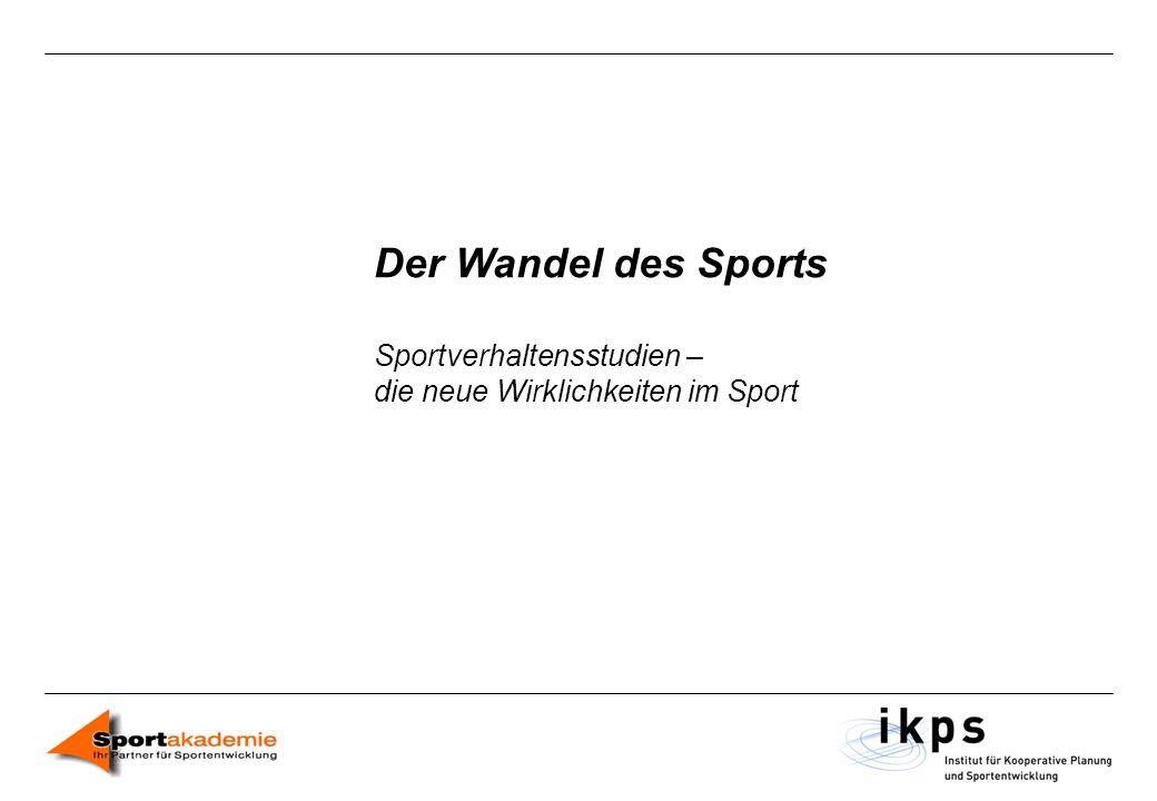Der Wandel des Sports Sportverhaltensstudien –