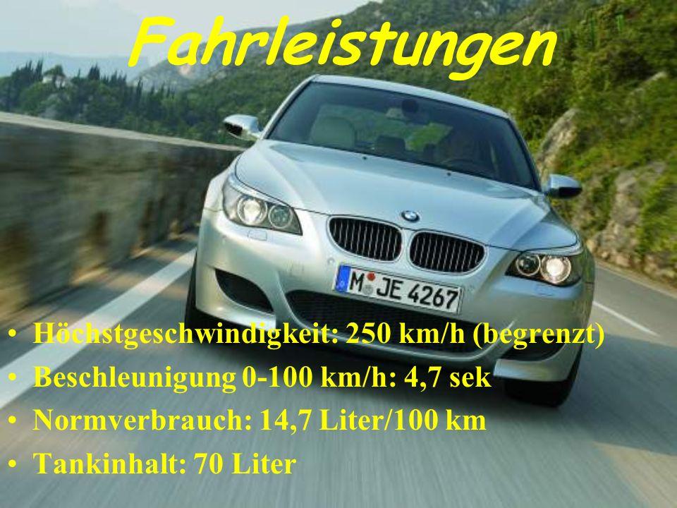 Fahrleistungen Höchstgeschwindigkeit: 250 km/h (begrenzt)