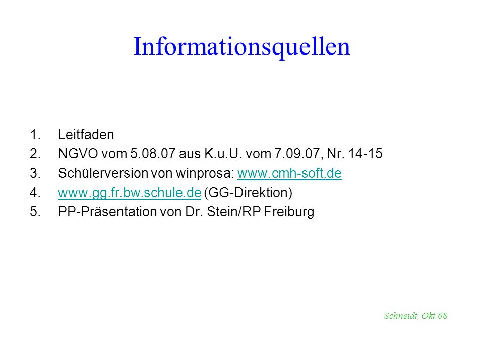 Informationsquellen Leitfaden