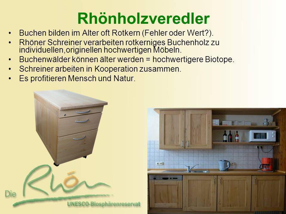 Rhönholzveredler Buchen bilden im Alter oft Rotkern (Fehler oder Wert ).