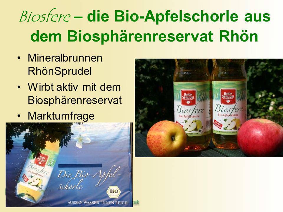 Biosfere – die Bio-Apfelschorle aus dem Biosphärenreservat Rhön