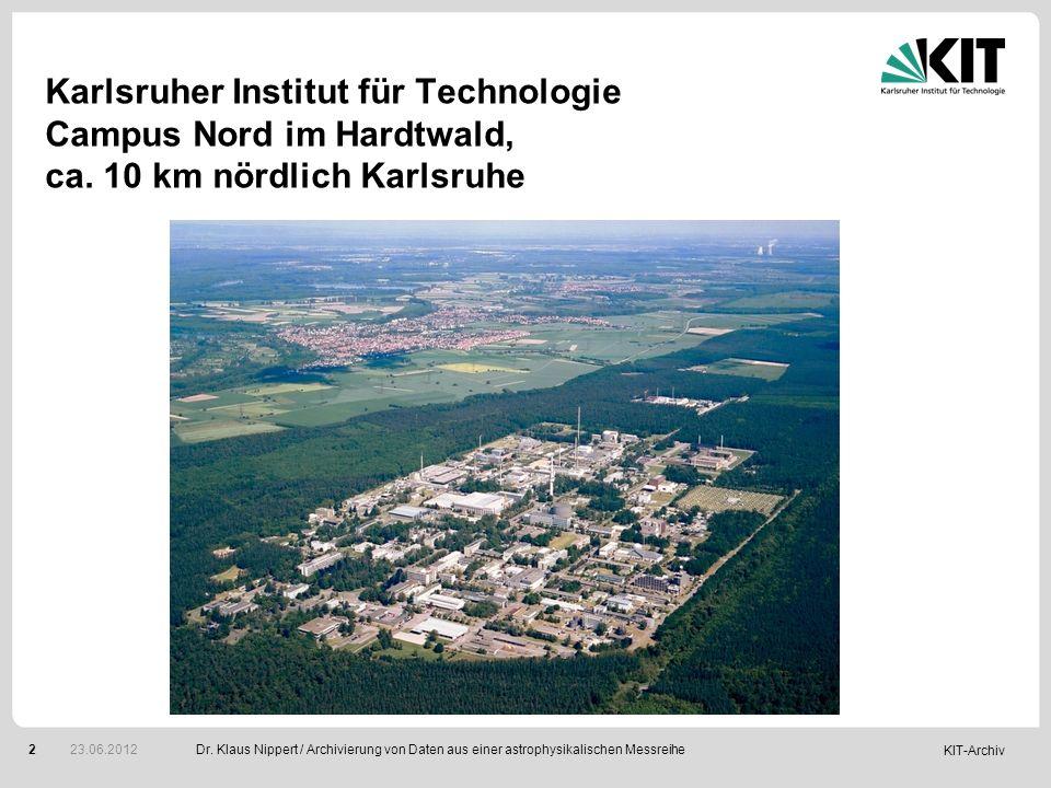 Karlsruher Institut für Technologie Campus Nord im Hardtwald, ca