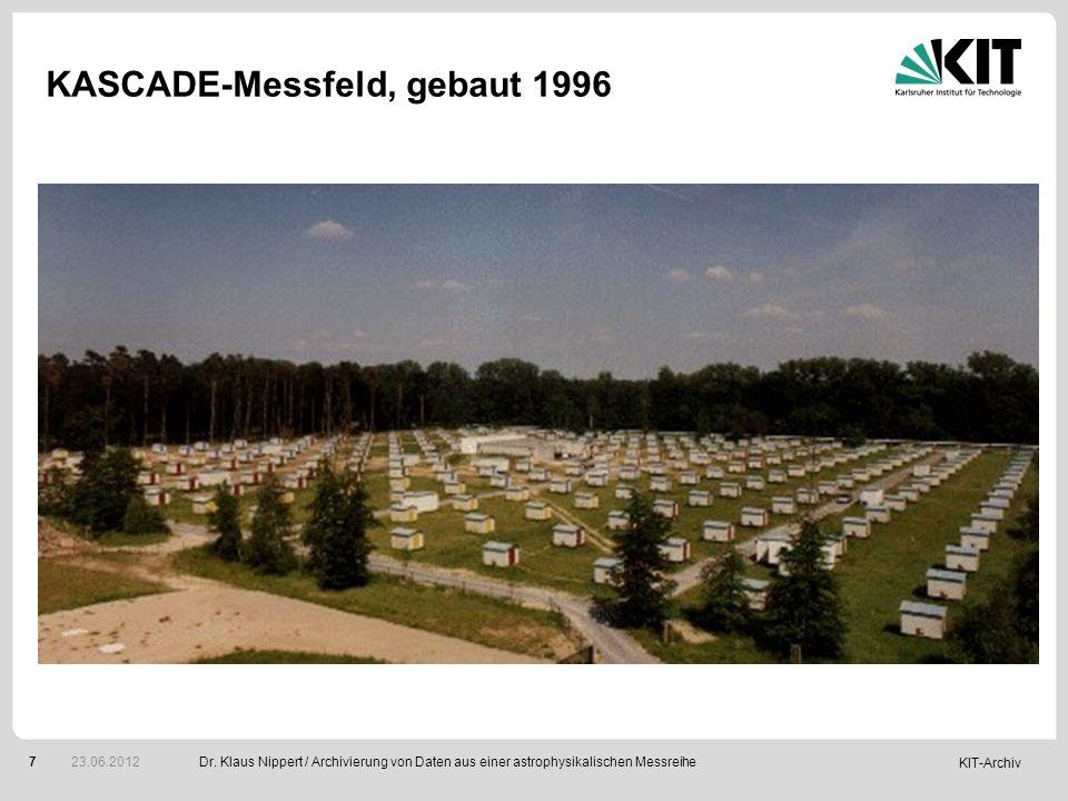 KASCADE-Messfeld, gebaut 1996