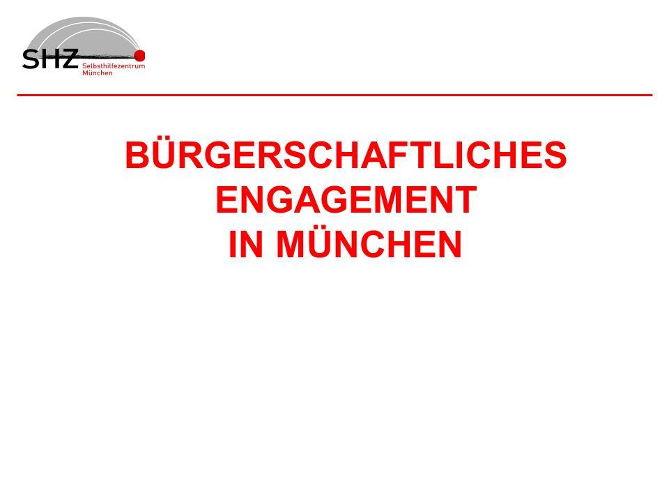 BÜRGERSCHAFTLICHES ENGAGEMENT IN MÜNCHEN