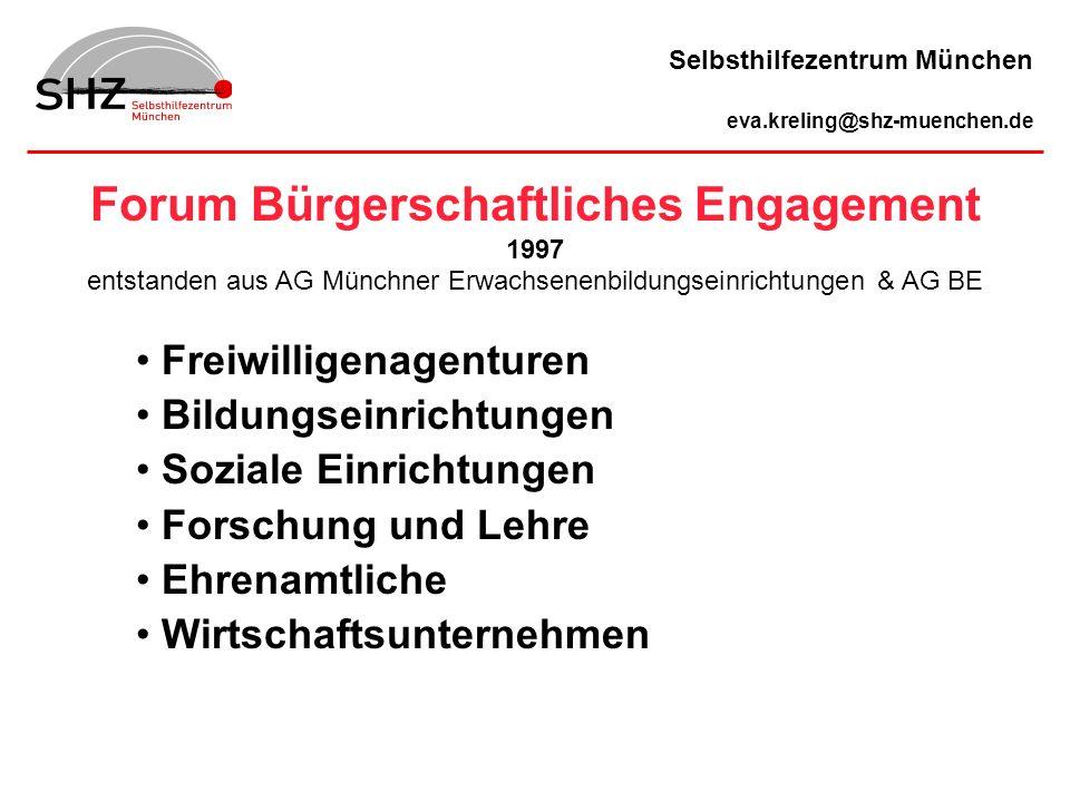 Forum Bürgerschaftliches Engagement 1997