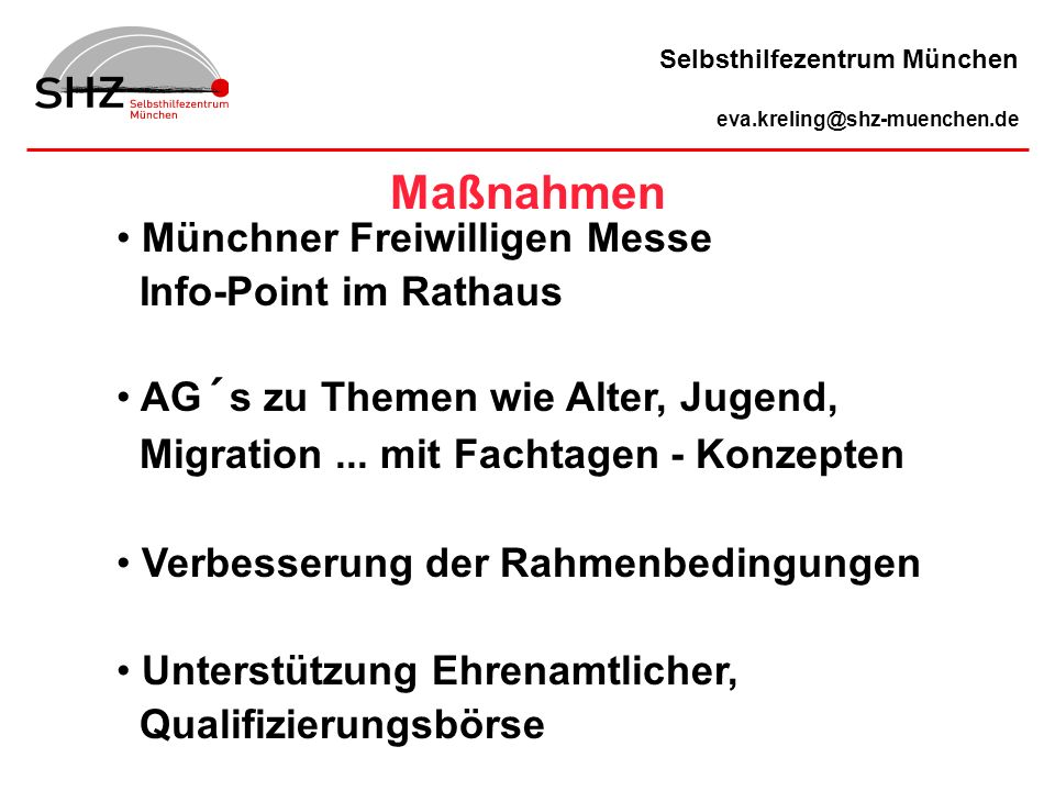 Maßnahmen Münchner Freiwilligen Messe Info-Point im Rathaus