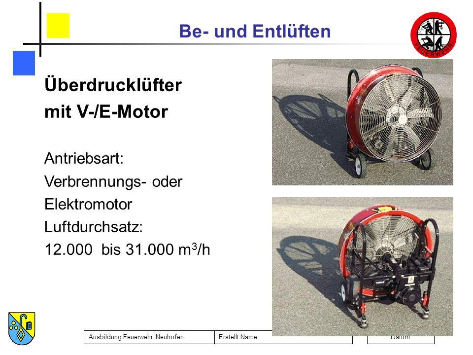 Überdrucklüfter mit V-/E-Motor Antriebsart: Verbrennungs- oder