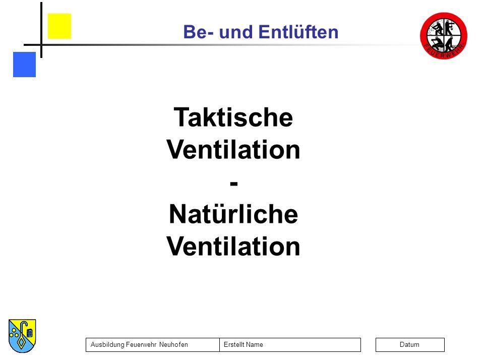 Taktische Ventilation Natürliche Ventilation
