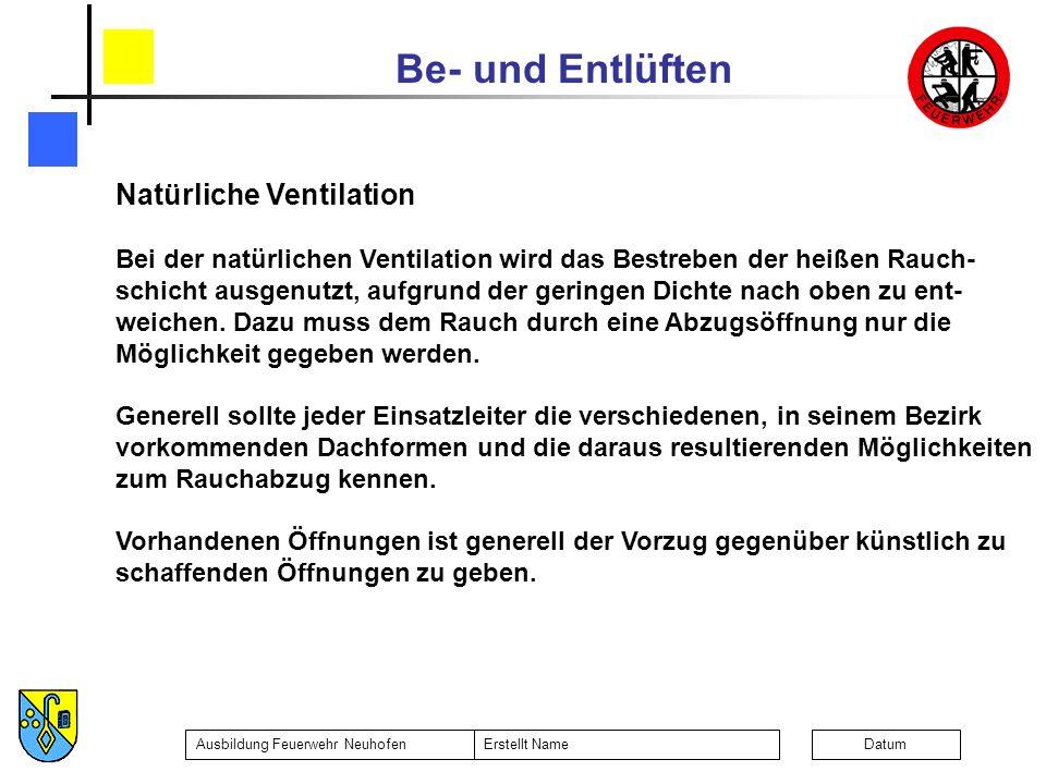 Natürliche Ventilation