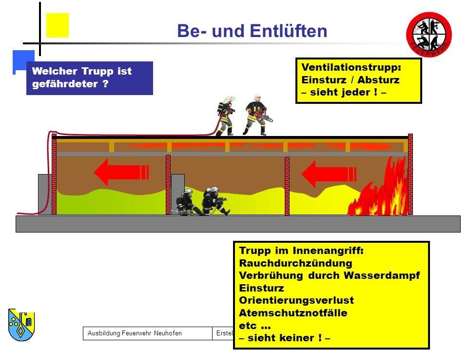 Ventilationstrupp: Einsturz / Absturz
