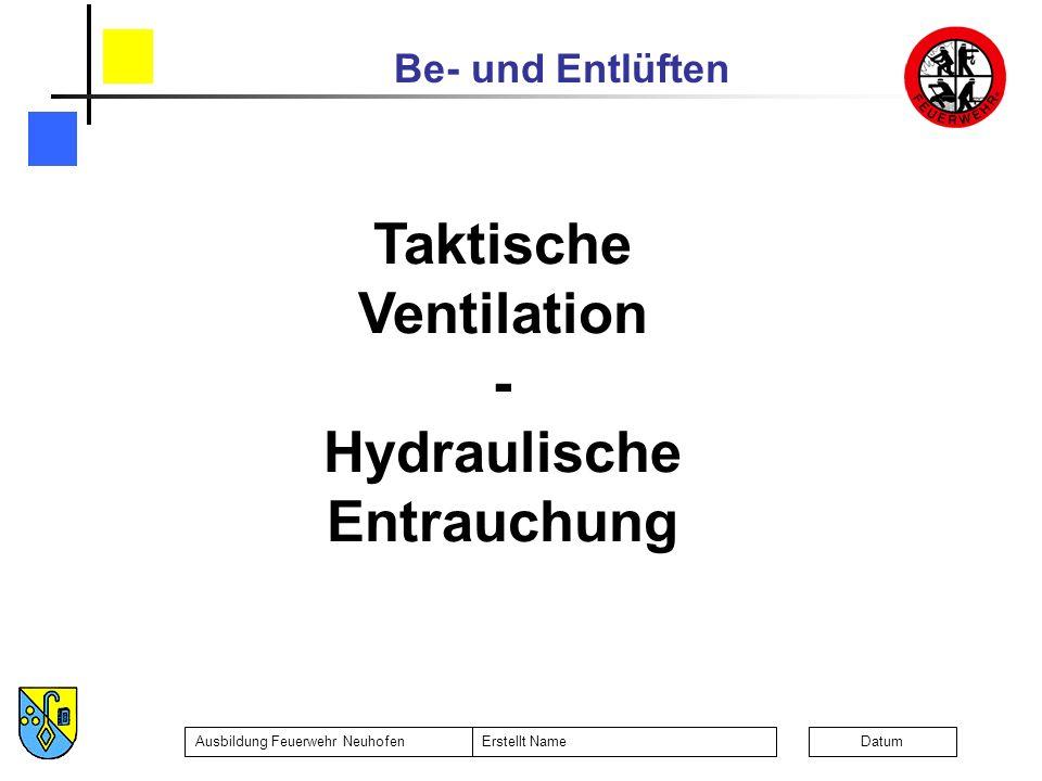 Taktische Ventilation Hydraulische Entrauchung