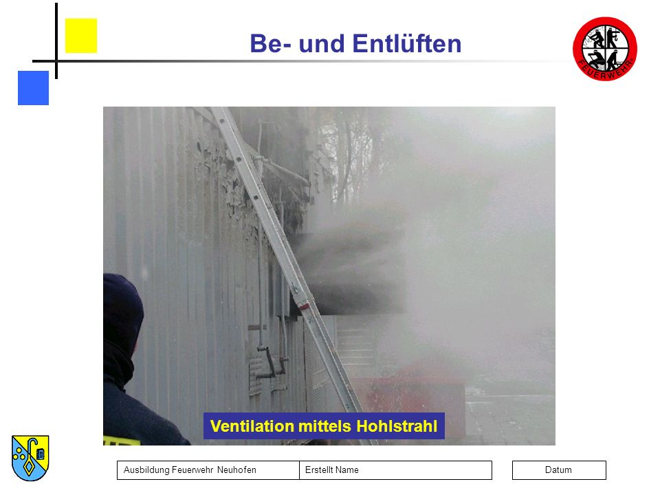 Ventilation mittels Hohlstrahl