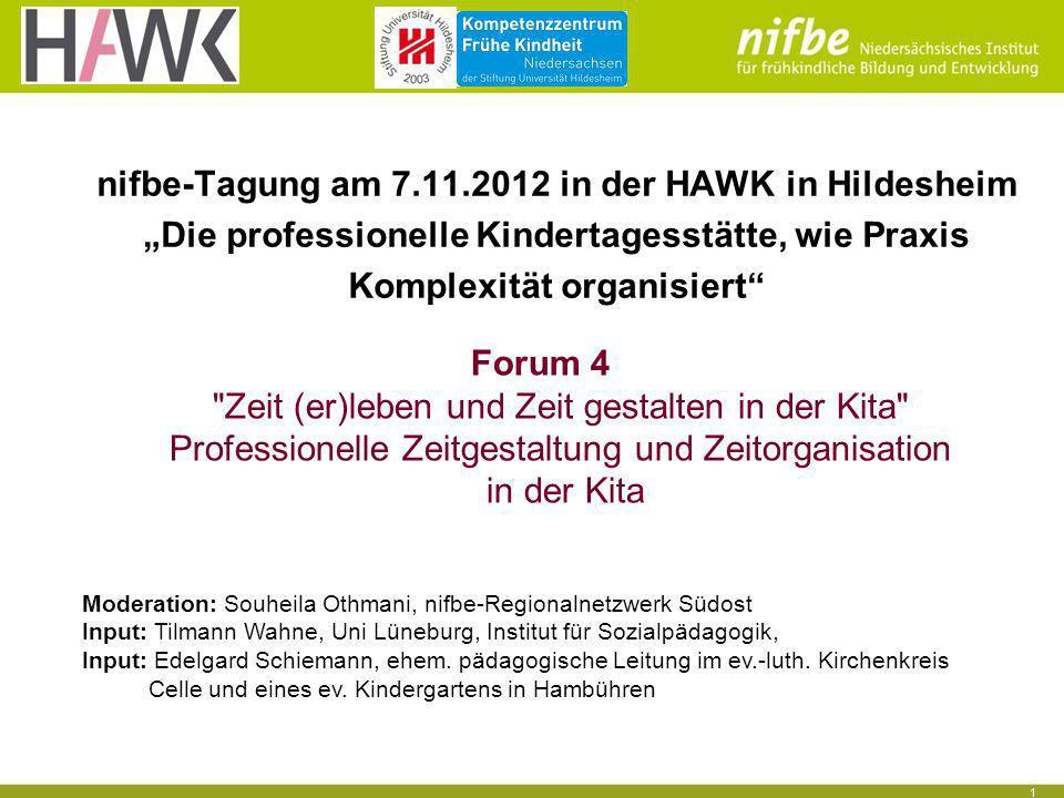 nifbe-Tagung am 7.11.2012 in der HAWK in Hildesheim