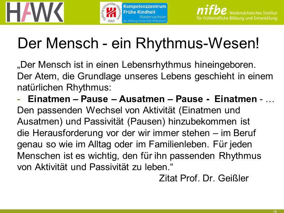 Der Mensch - ein Rhythmus-Wesen!