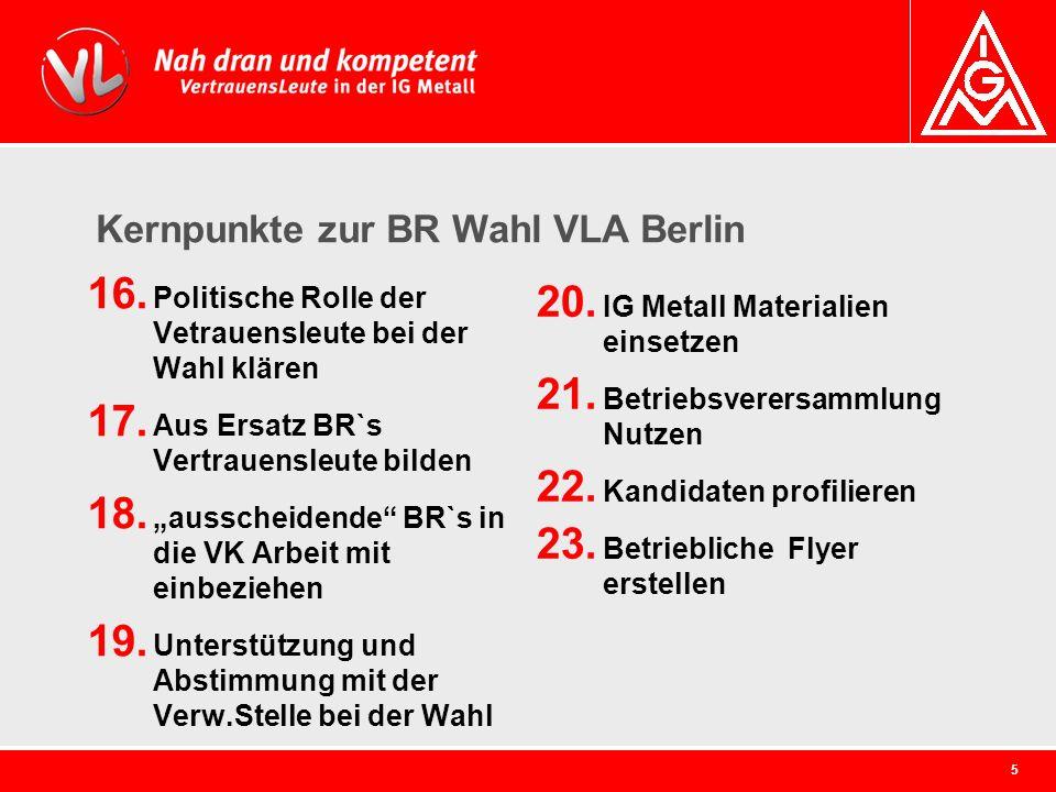 Kernpunkte zur BR Wahl VLA Berlin