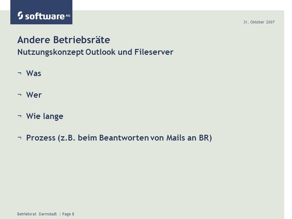 Andere Betriebsräte Nutzungskonzept Outlook und Fileserver