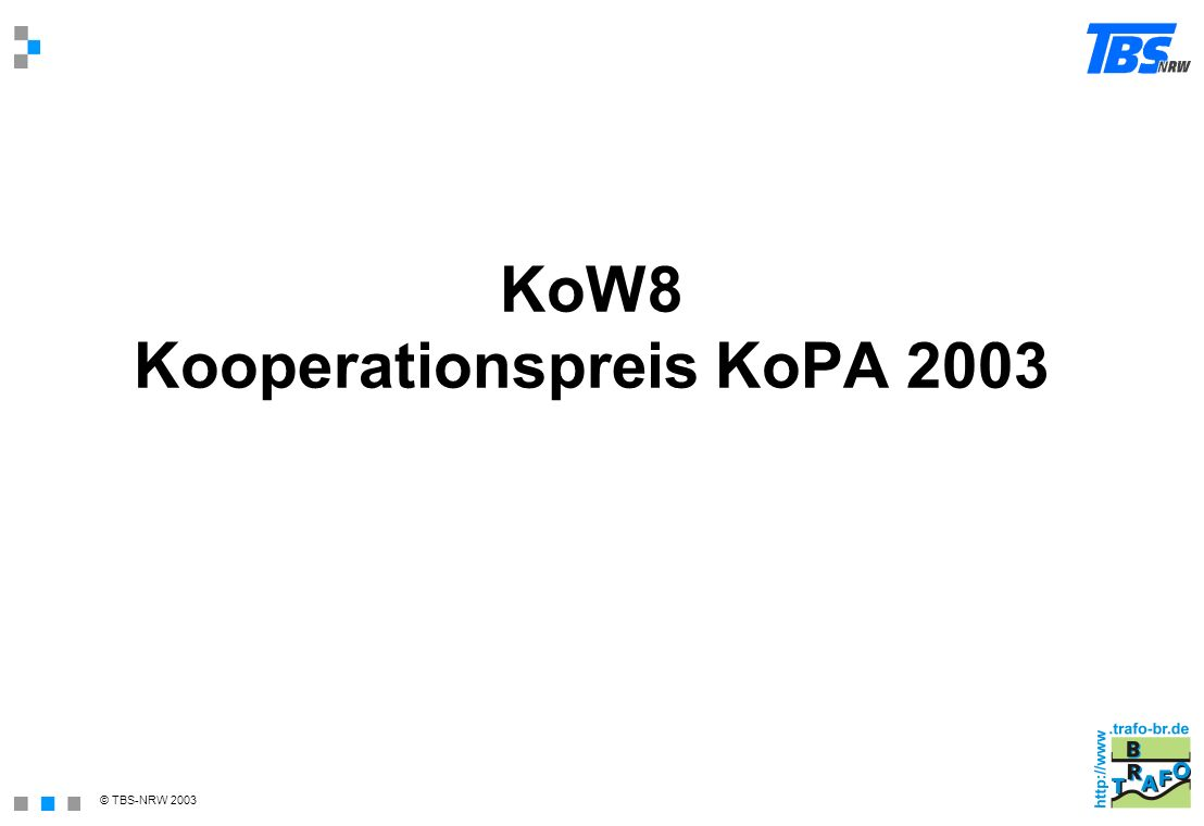 KoW8 Kooperationspreis KoPA 2003