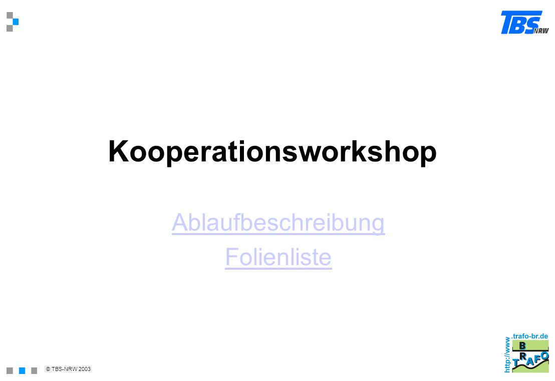 Kooperationsworkshop