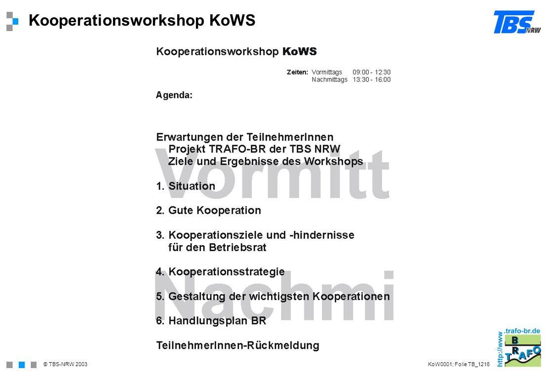 Kooperationsworkshop KoWS