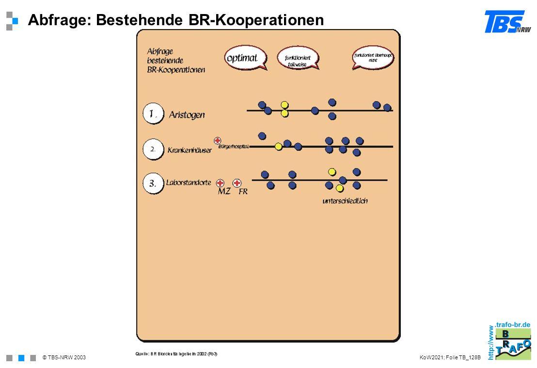 Abfrage: Bestehende BR-Kooperationen