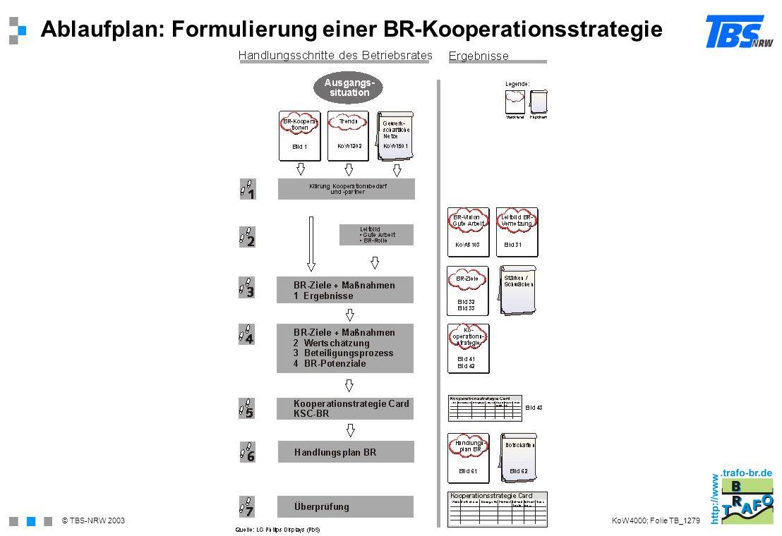 Ablaufplan: Formulierung einer BR-Kooperationsstrategie