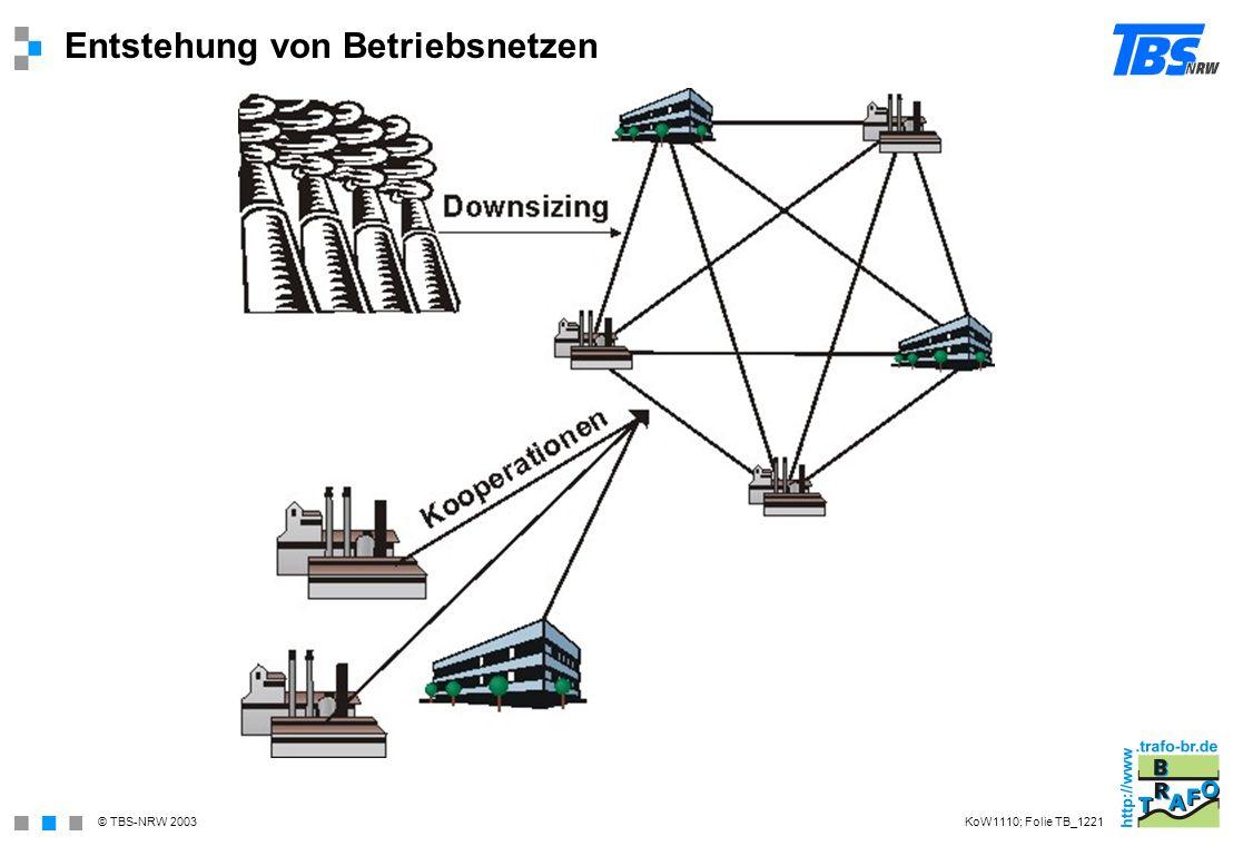 Entstehung von Betriebsnetzen