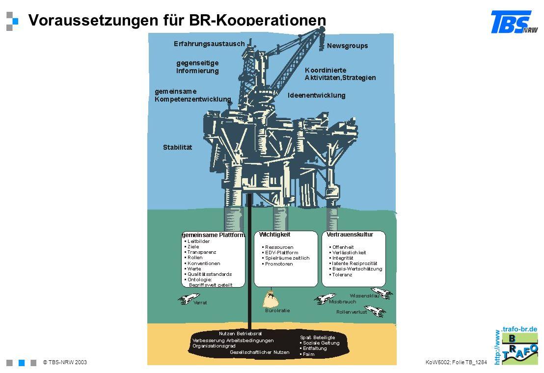 Voraussetzungen für BR-Kooperationen
