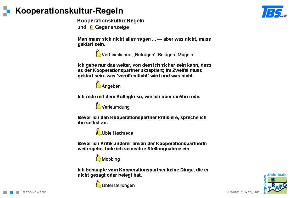 Kooperationskultur-Regeln