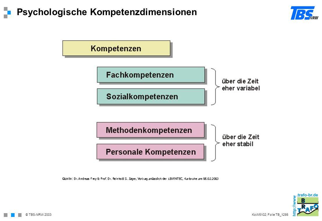 Psychologische Kompetenzdimensionen