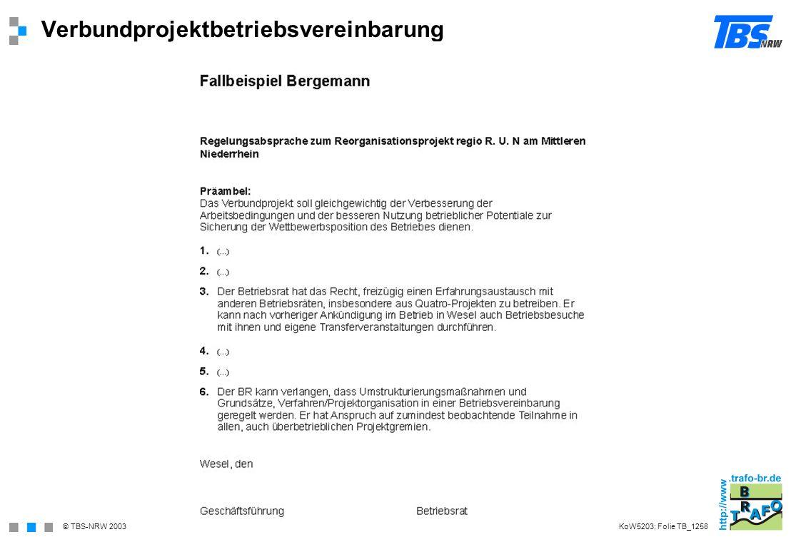 Verbundprojektbetriebsvereinbarung