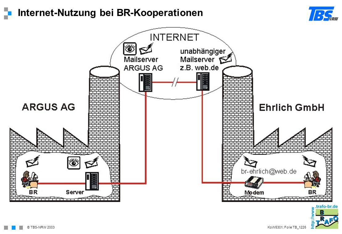 Internet-Nutzung bei BR-Kooperationen