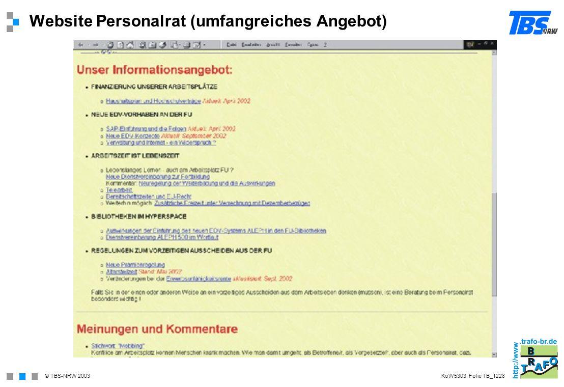 Website Personalrat (umfangreiches Angebot)