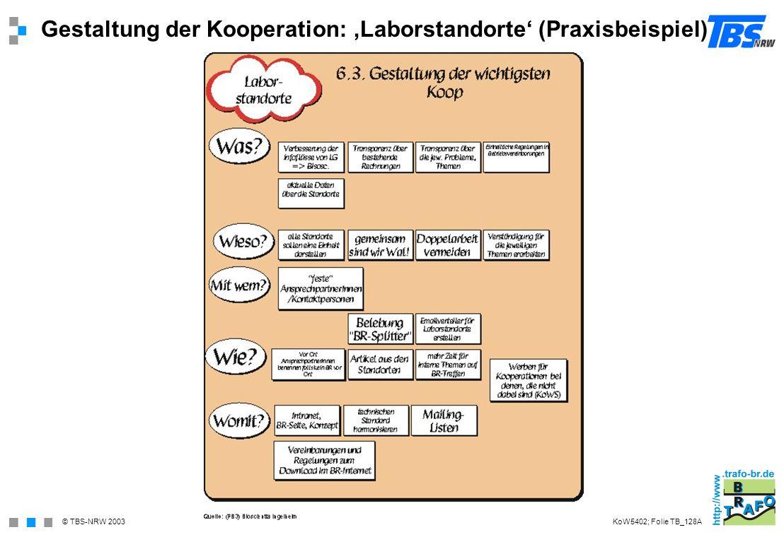 Gestaltung der Kooperation: 'Laborstandorte' (Praxisbeispiel)
