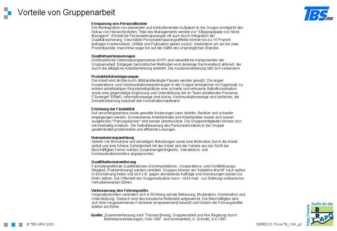 Vorteile von Gruppenarbeit