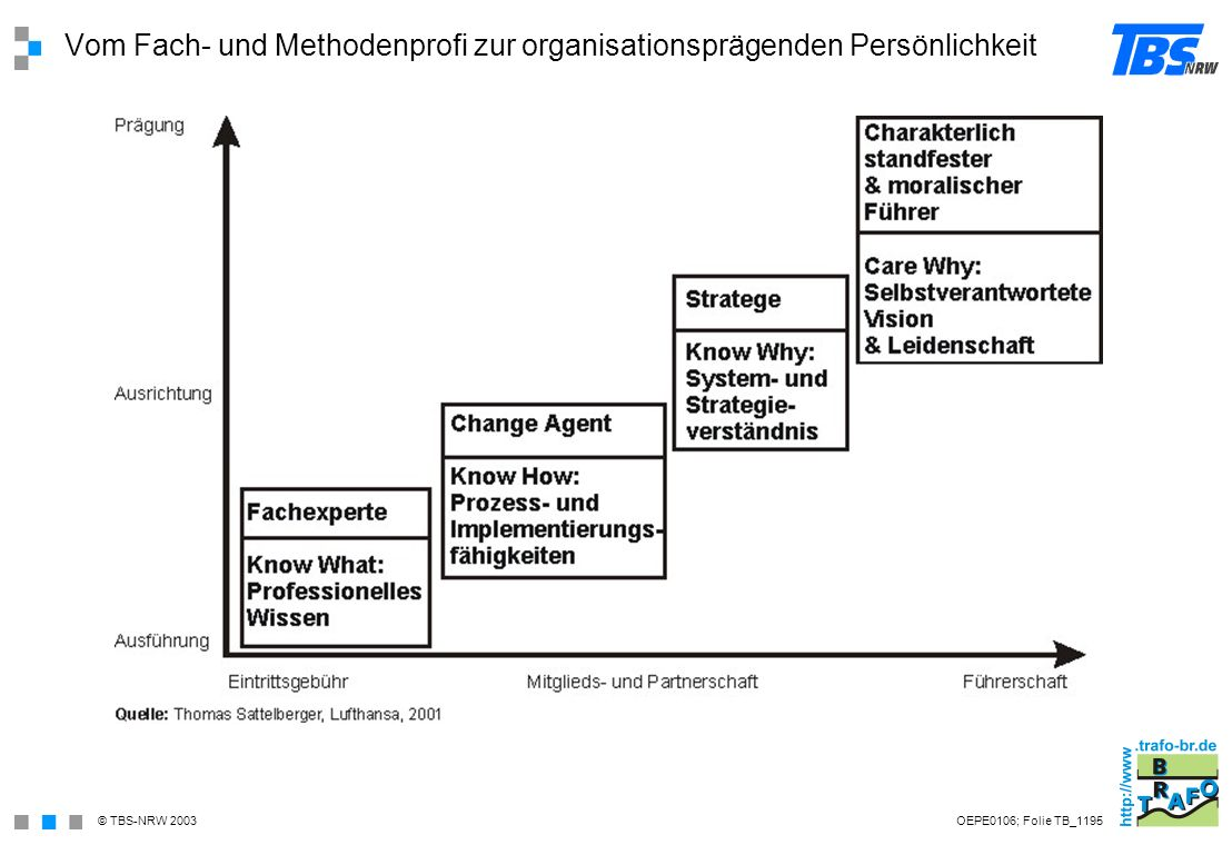 Vom Fach- und Methodenprofi zur organisationsprägenden Persönlichkeit